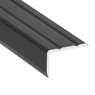 Hoekprofiel 25 x 20 mm aluminium zwart zelfklevend 300 cm