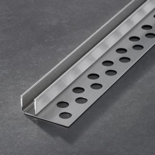 Prochannel glasdragerprofiel 15 mm RVS 100 cm