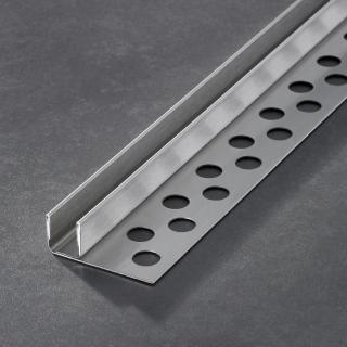 Prochannel glasdragerprofiel 15 mm RVS 210 cm