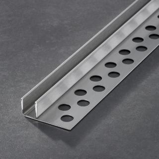 Prochannel glasdragerprofiel 15 mm RVS 148 cm